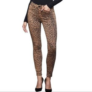 NWT Good American Good Waist Leopard Skinny Jeans